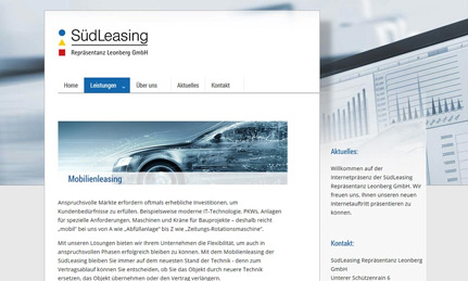 SüdLeasing Leonberg Webdesign
