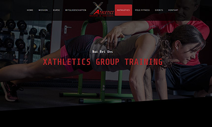 X-Athletics Webdesign